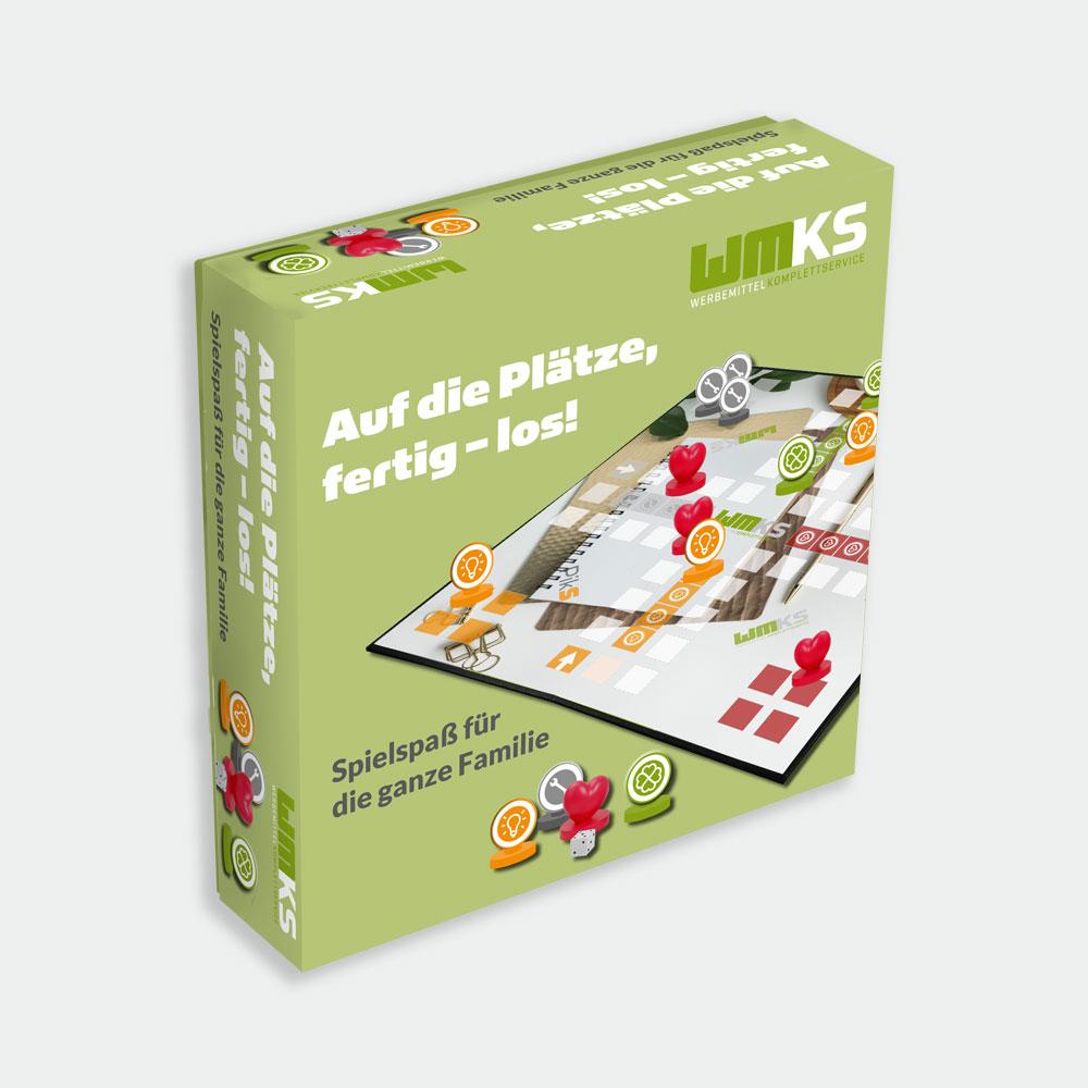 Individuelles Gesellschaftsspiel gestalten Verpackung