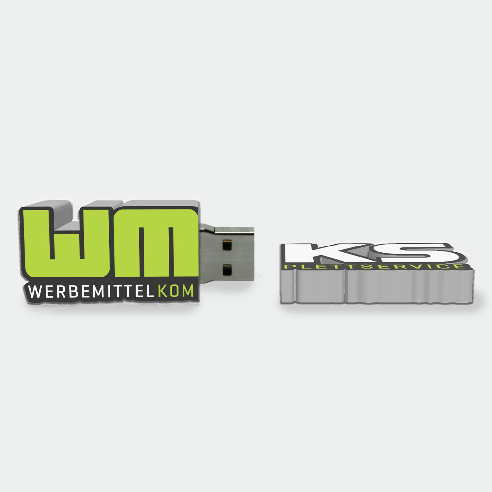 USB-Stick in Logoform Sonderanfertigung