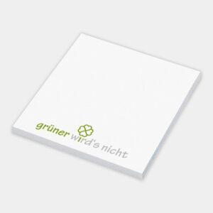 Nachhaltiger Haftnotizblock aus recyceltem Papier - gwn-015