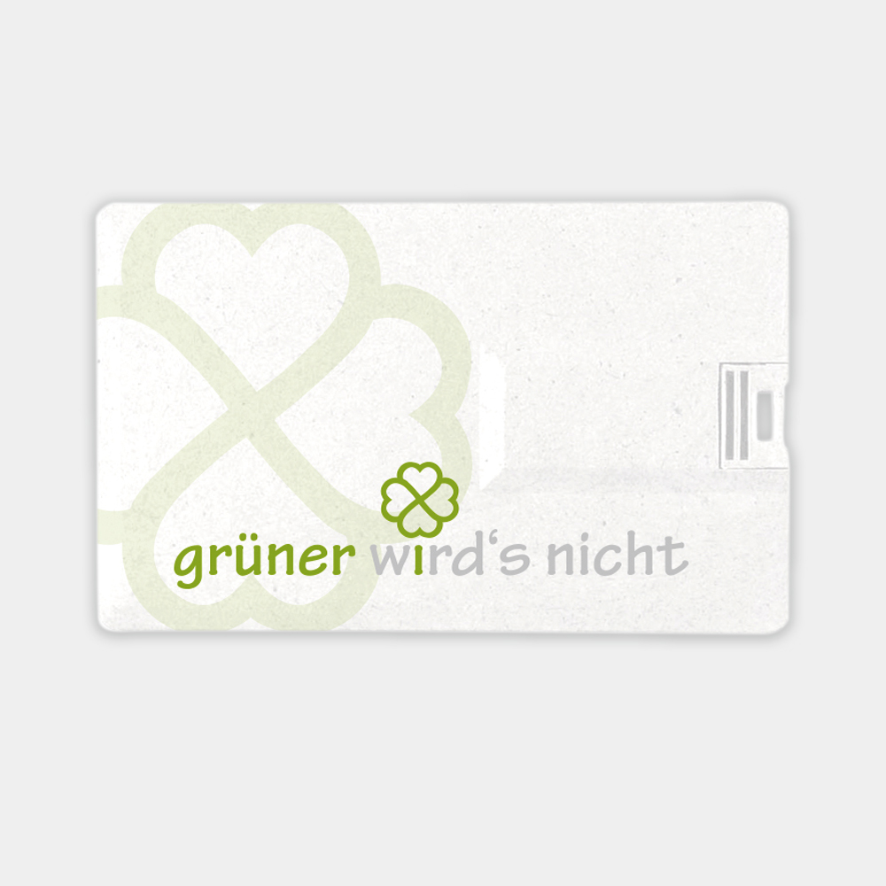 USB Karte aus recyceltem Kunststoff - gwn-120