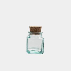 Vorratsglas corkstock aus recyceltem Glas - gwn-230 - M